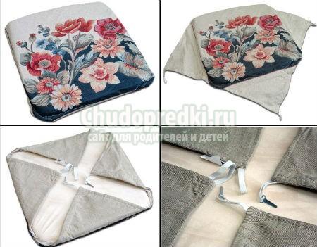 Подушки для табуретов своими руками