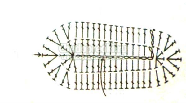 вязание брелка крючком.