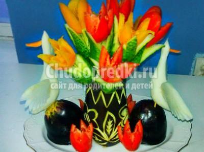 Поделки из овощей и фруктов для детей