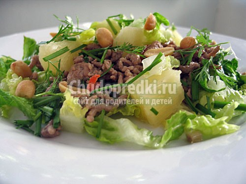 Салат с фаршем.фото