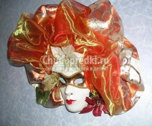 Венецианские маски своими руками из папье-маше
