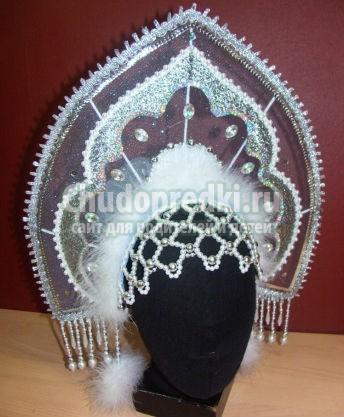 Как сделать корону для снегурочки своими руками