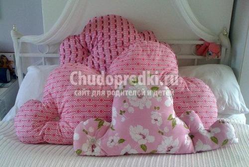 Декоративная подушка роза своими руками с выкройкой-Dveri-Ceny.ru