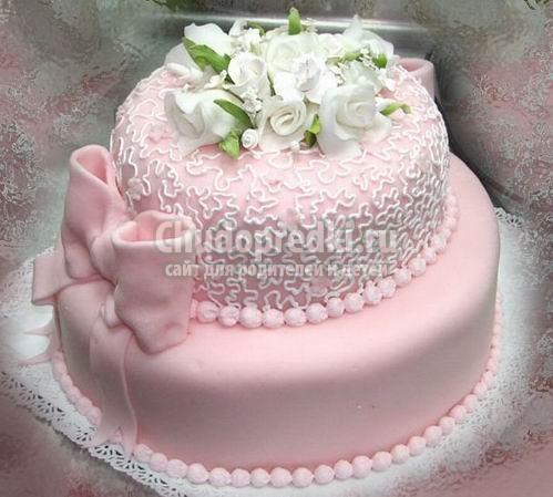 Торты трехъярусные свадебные торты