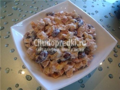 Салат с печенью и красной фасолью рецепт