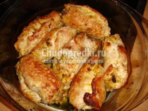 Рецепт рулетиков из куриного филе в духовке с пошагово