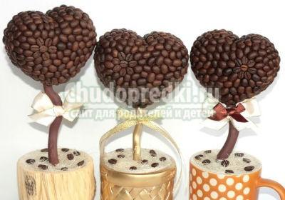Кофейное сердце своими руками