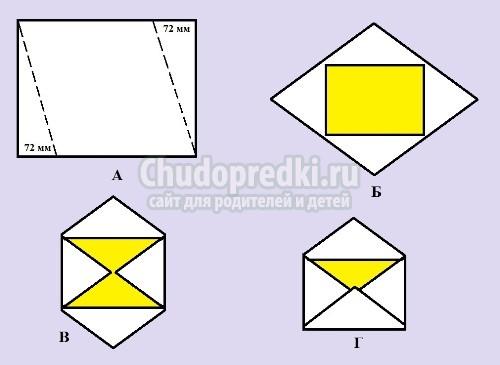 Как сделать простой конверт из бумаги
