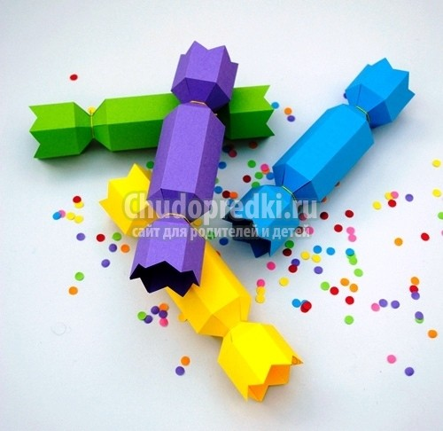 Как сделать конфету из бумаги лучшие