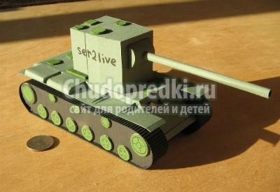 как сделать танк из бумаги своими руками фото инструкция - фото 9
