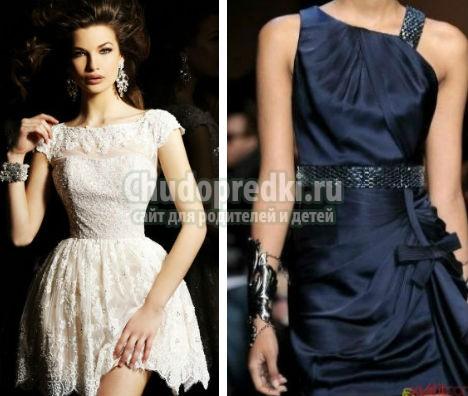 Черные короткие платья от известных дизайнеров