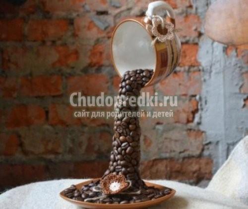 Поделки из кофейных зерен своими руками пошагово