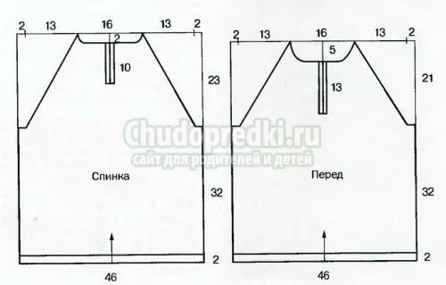 Схема ажурного вязания спицами