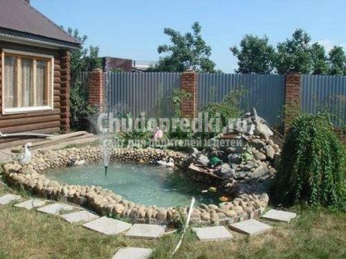 Дача декоративный бассейн своими руками