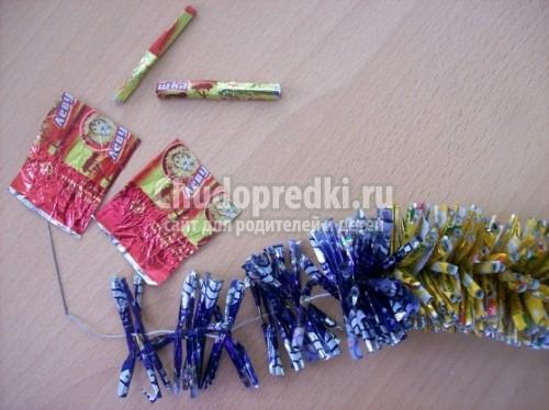 Как сделать гирлянды из конфет