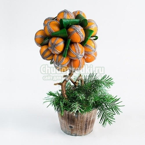 Деревья на новый год своими руками фото