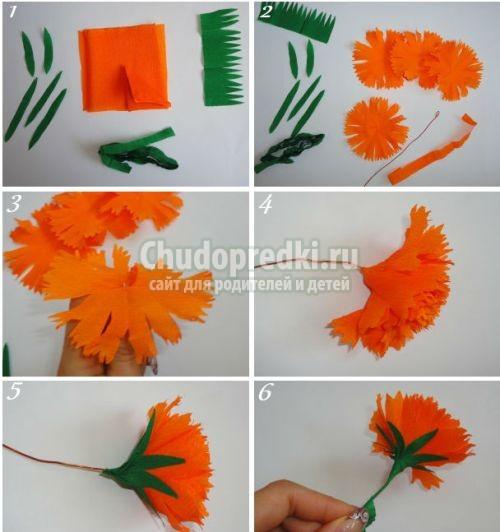 поделки из салфеток цветы своими руками с пошаговой инструкцией
