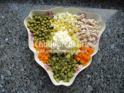 Как сделать классический салат оливье
