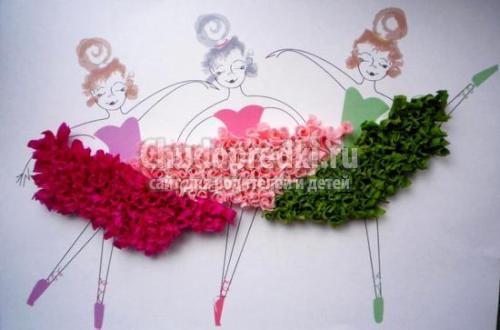 Цветы своими руками объемная аппликация