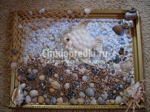 Поделки из ракушек и камней пошаговые