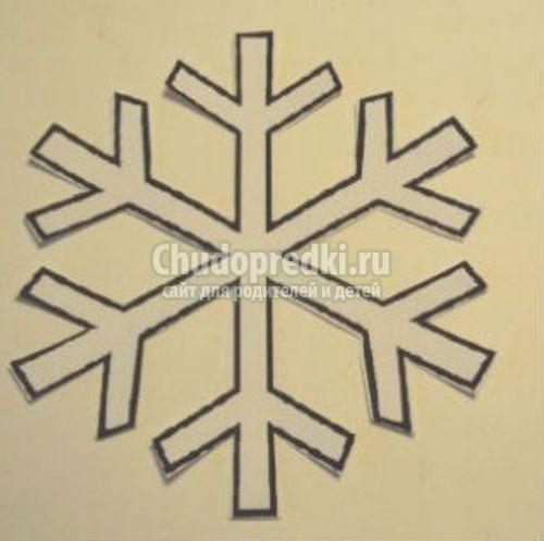 Снежинка из салфетки