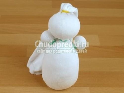 Снеговик из мастиСенсорной перчатка своими руками