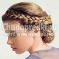 Прически косы на средние волосы