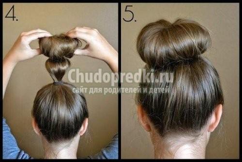 Как сделать бублик на голове