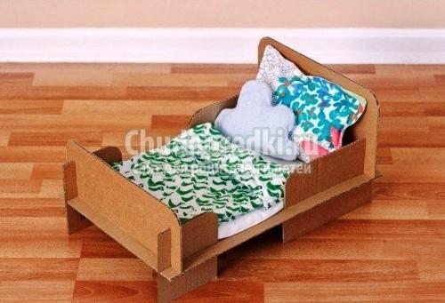 Сделать кроватку для куклы из дерева своими