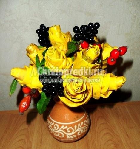 Букет роз в домашних условиях фото пошагово 187