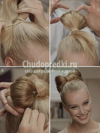 прическа бант из волос: как сделать? Пошаговый мастер-класс с фото