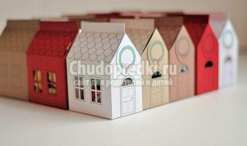 Поделка картонный домик