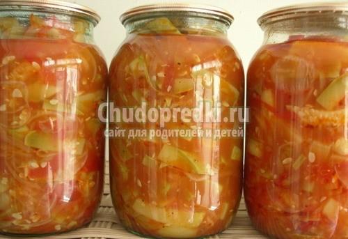 Рецепты салаты из кабачков на зиму с