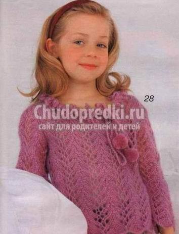 Вязание для девочек 3 лет: