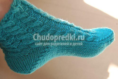 вязание на спицах - носки: