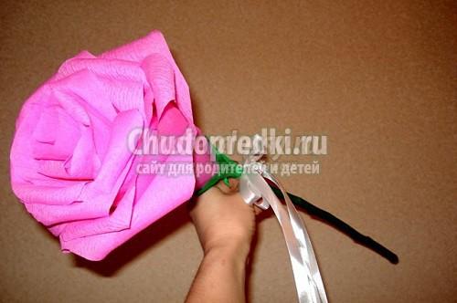 Как сделать большие розы из салфеток своими руками