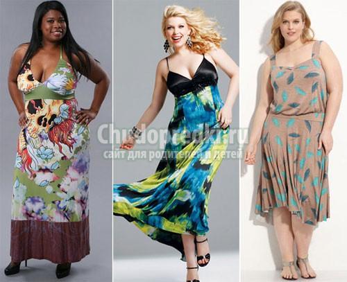 Летняя одежда для полных Модели одежды для полных Одежда для