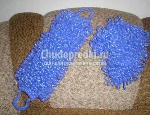 Вязание мочалки крючком с