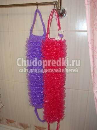 Вязание мочалок крючком: схемы