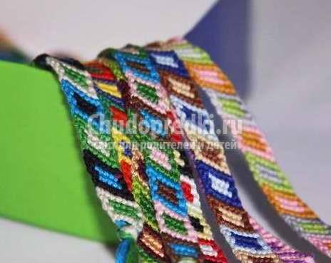 Схемы фенечек из мулине: фото