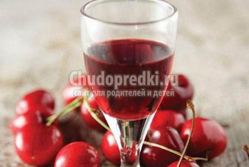Настойка вишни на водке