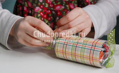 Как сделать большую конфету из бумаги