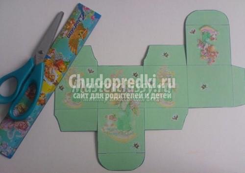 Как сделать коробку из цветного картона своими руками