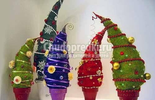 Мастер классы новогодних елок своими руками