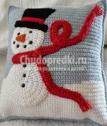 Снеговик своими руками связанный крючком