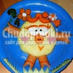 Украшения из овощей и фруктов для детского стола