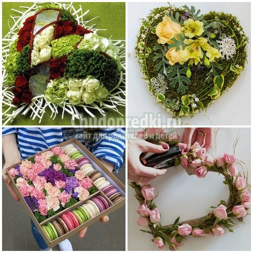 Поделки из живых цветов: делаем своими руками