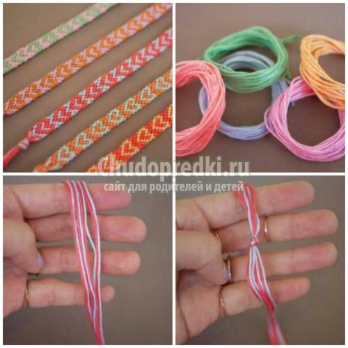 Модные браслеты из ниток мулине своими руками - Prom-komp.ru