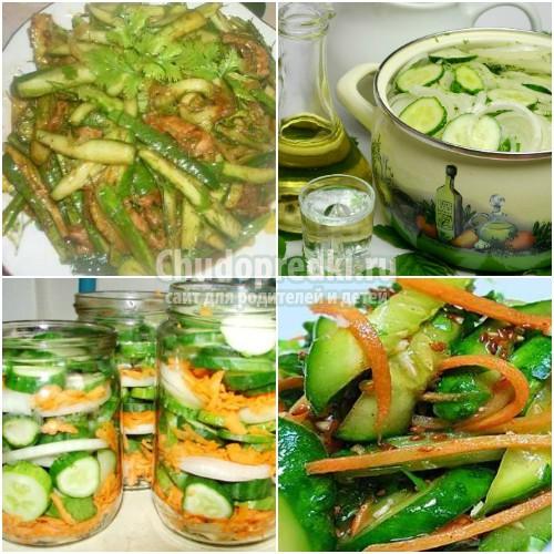 Салат в зиму из перезрелых огурцов