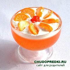 Апельсиновое желе для ребенка